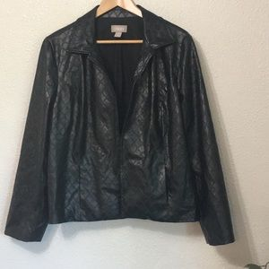Chico's Faux Leather Jacket Size 3